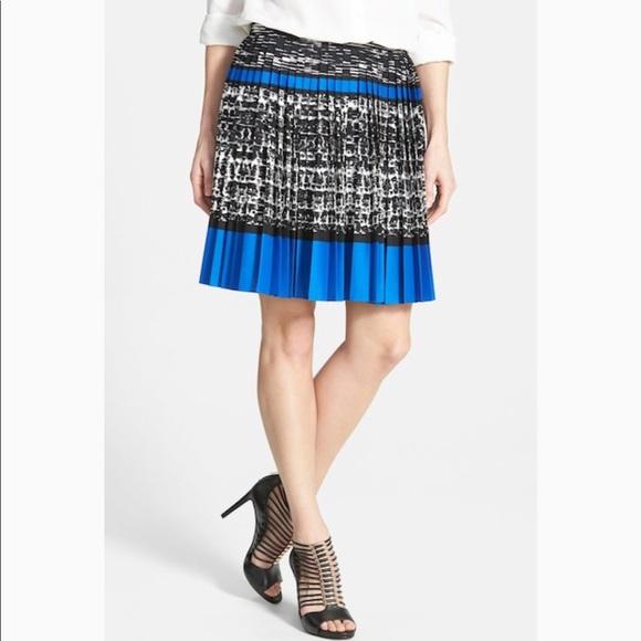 6caa0a528 Vince Camuto Skirts | Blackroyal Blue Pleated Skirt | Poshmark